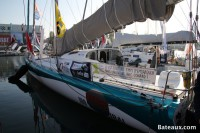 Voilier 100 % NATURAL ENERGY - ponton du Vendée Globe 2016
